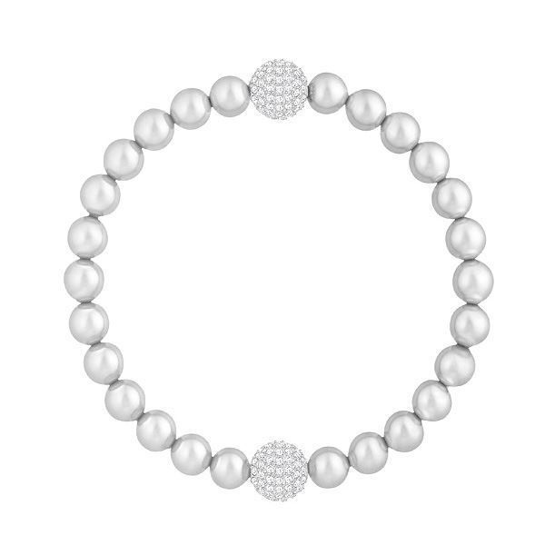Swarovski armbånd Remix Collection Light Gray Pearl - 5364103