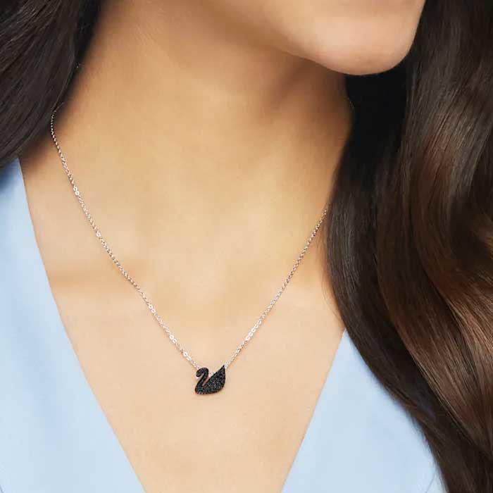 Swarovski smykke Iconic Swan, Rhodium plating - 5347330