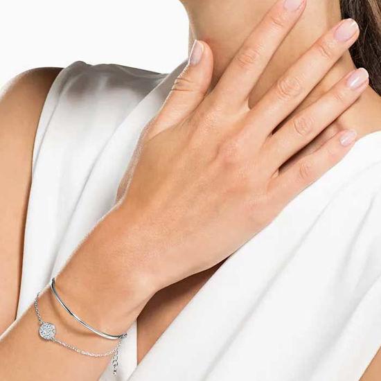 Swarovski armbånd Ginger, Rhodium plating - 5389044