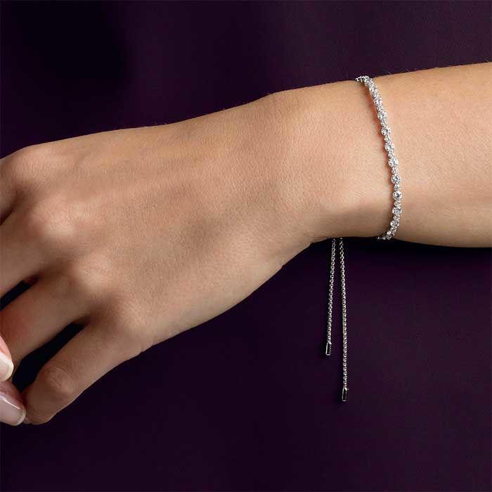 Swarovski armbånd Subtle, hvitt - 5465384