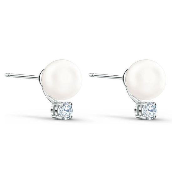 Swarovski øredobber Treasure Pearl, hvitt - 5559420