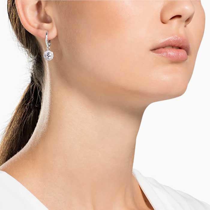 Swarovski øredobber Angelic Pierced Earrings, White, Rhodium plated - 5142721