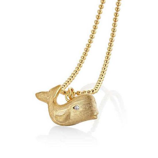Smykke hval i sølv med zirkonia - 2995780