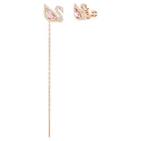 Swarovski øredobber Dazzling Swan Pierced Earrings, Multi-colored, Rose-gold tone plated - 5469990