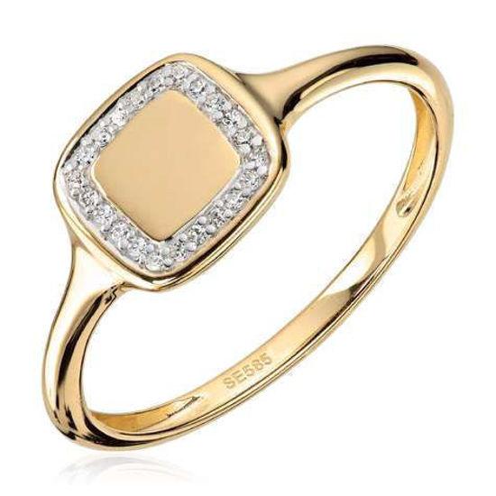 Ring i gult gull med 0,048ct Wsi 585 - 57285