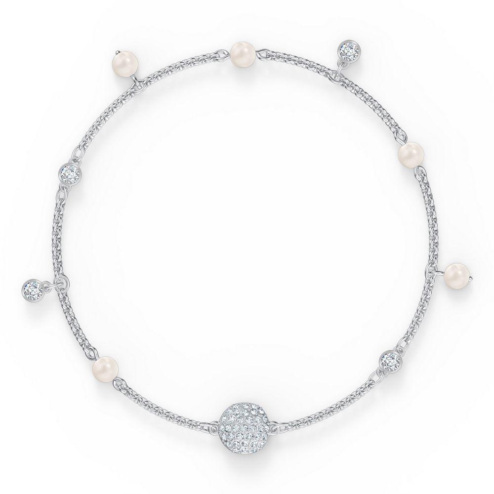 Swarovski armbånd Remix Collection Delicate Pearl Strand, hvitt - 5572078