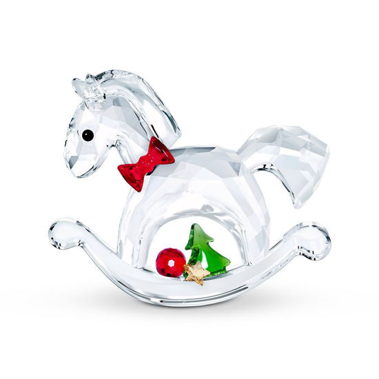 Swarovski figurer Rocking Horse - Happy Holidays -  5544529