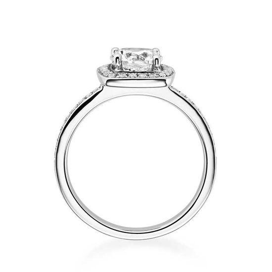 Diamantring med 0.42 ct,  hvitt gull 14 kt - 1592hg