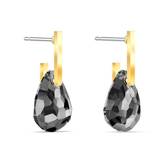 Swarovski øredobber T Bar, med grå krystaller - 5565999