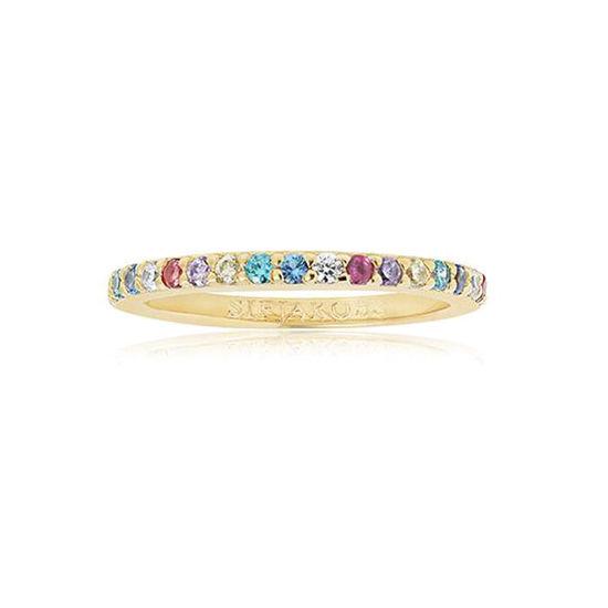 Ring Corte Uno i forgylt sølv med zirkonia - SJR10811XCZYG