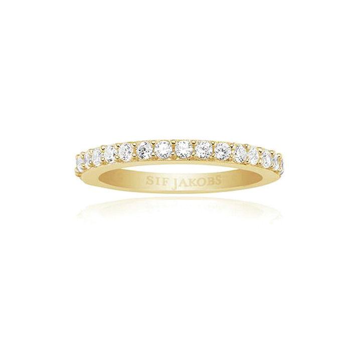 Ring Corte Uno i forgylt sølv med zirkonia - SJR10811CZYG