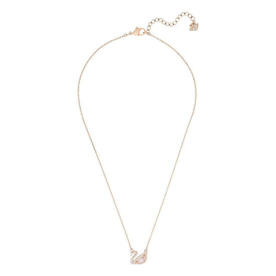 Swarovski smykke Dazzling Swan Necklace, Multi-colored, Rose-gold tone plated - 5469989