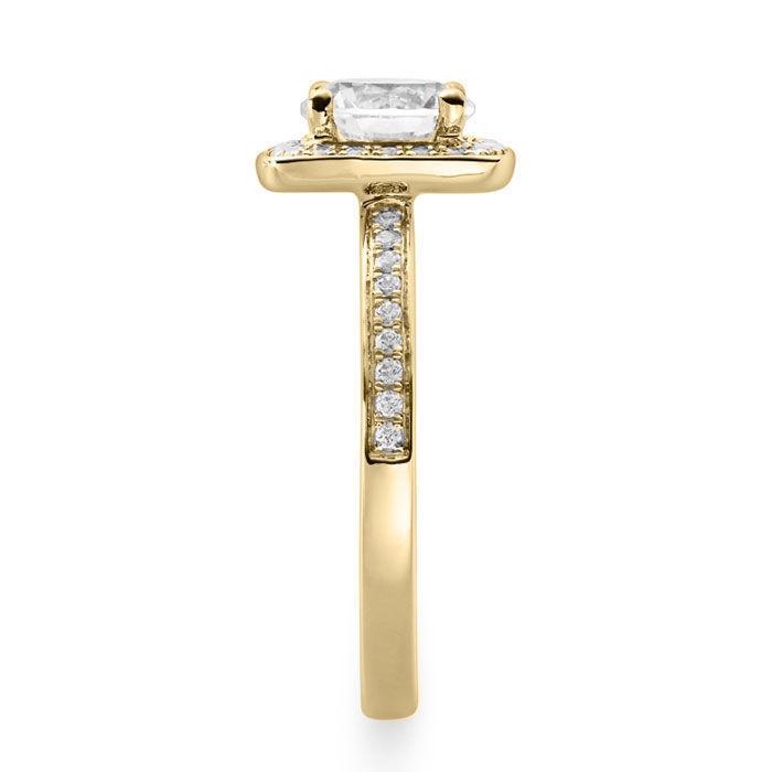 Diamantring med 0.30 ct, gult gull 18 kt - 15920gg