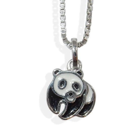 Sølvsmykke panda i sølv, til barn - 9097