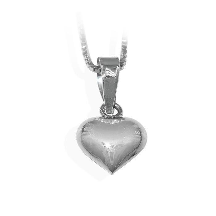 Sølvsmykke hjerte i sølv, til barn - 9096