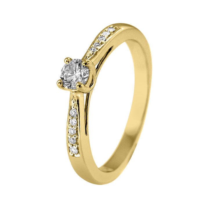 Diamantring forlovelsesring Azur 0,20 ct W-Si - ABR008740