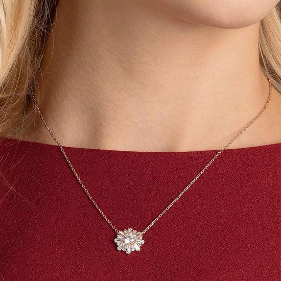 Swarovski smykke Sunshine Pendant, White, Rose-gold tone plated - 5451376