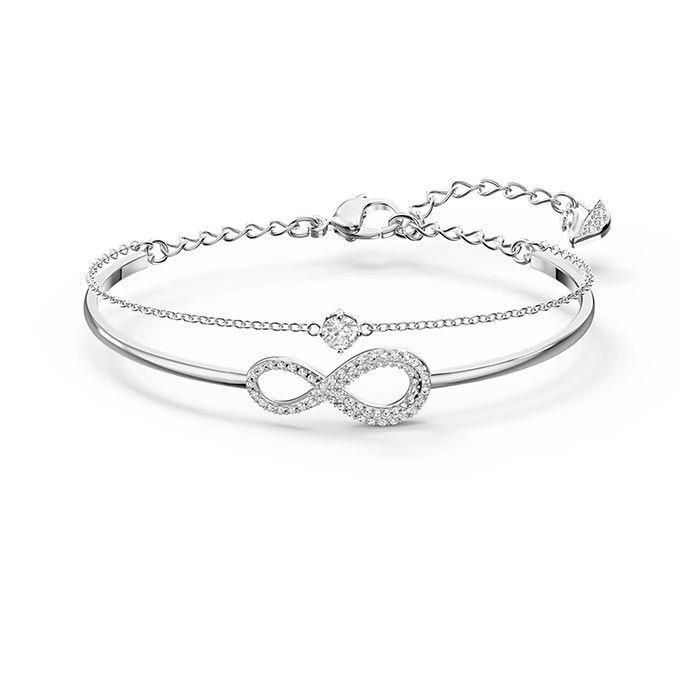 Swarovski armbånd Infinity Chain Crystal, hvitt - 5520584