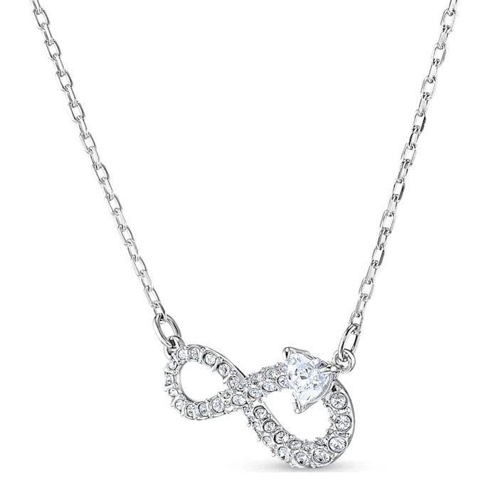 Swarovski smykkesett Infinity, hvitt - 5540702
