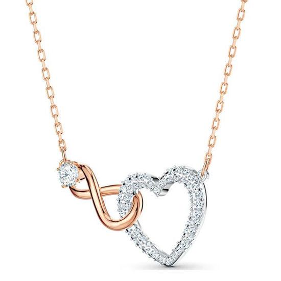 Swarovski smykkesett Infinity Heart, gull - 5521040