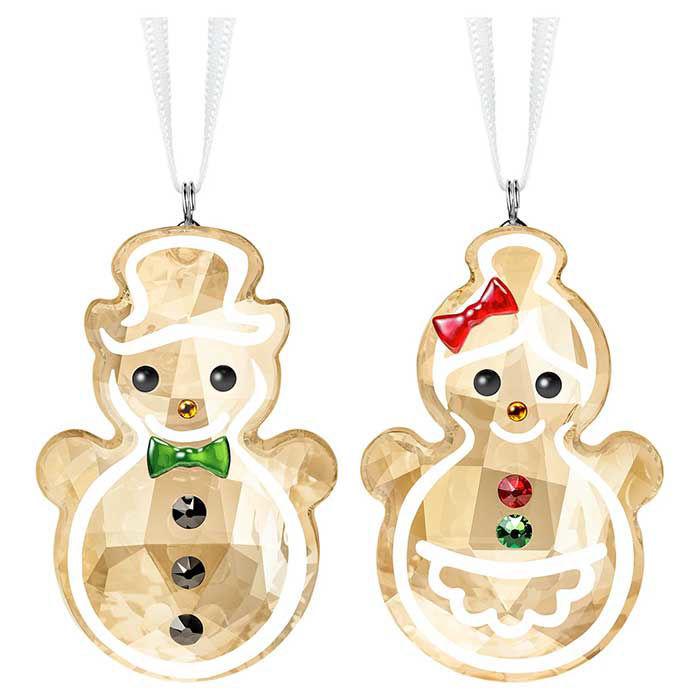 Swarovski figurer Gingerbread Snowman Couple Ornament - 5464885