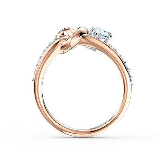 Swarovski ring Lifelong Heart, rose - 5535407