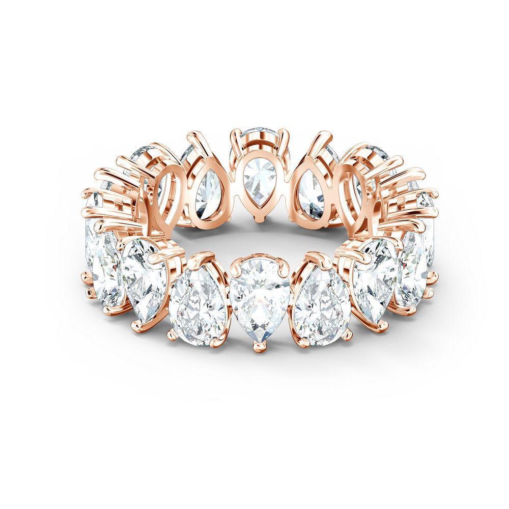 Swarovski ring Vittore Pear, rose - 5586161