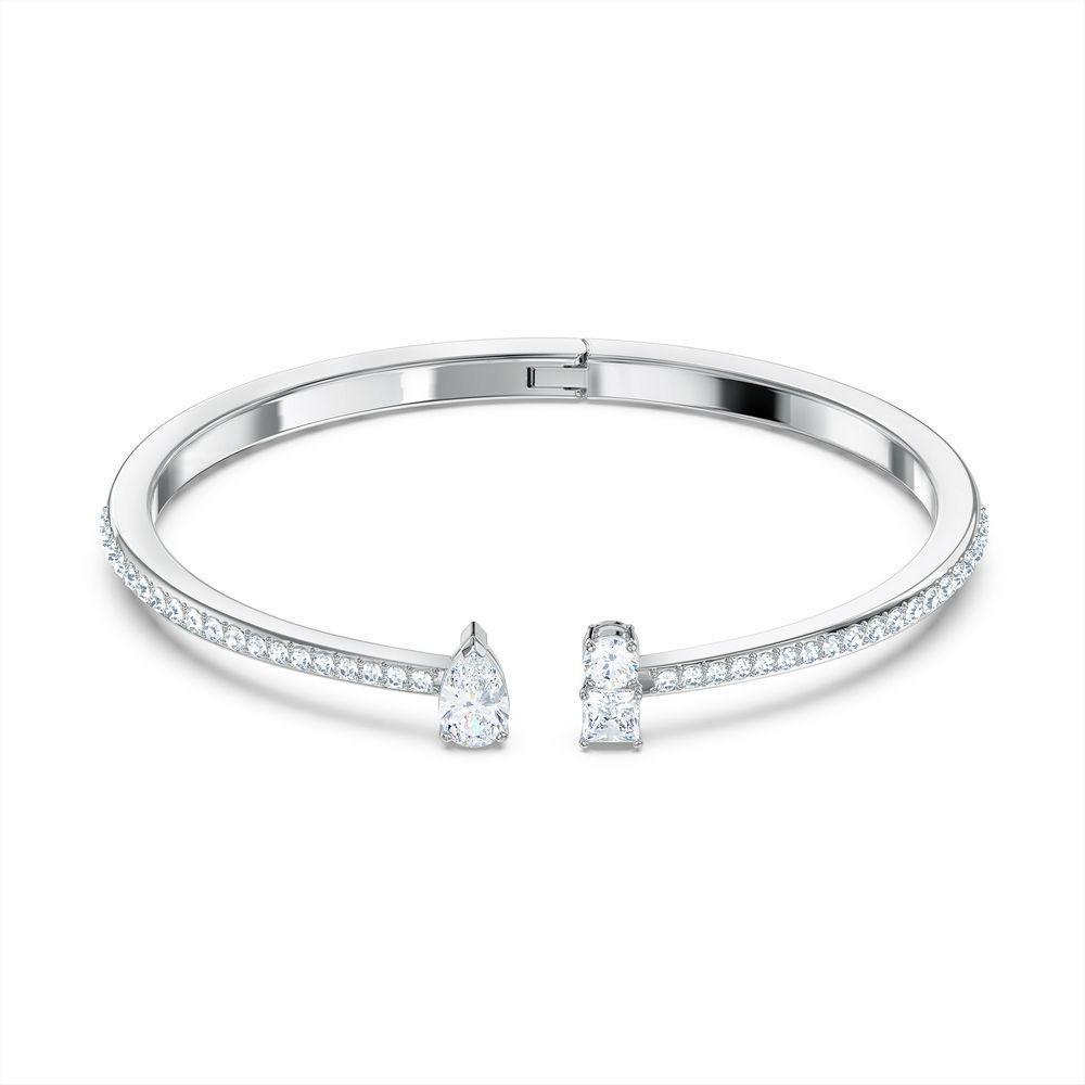 Swarovski armbånd Attract Cuff, hvitt - 5556912