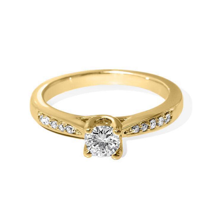 Diamantring forlovelsesring Azur 0,46 ct W-Si,GIA - ABR008741-4