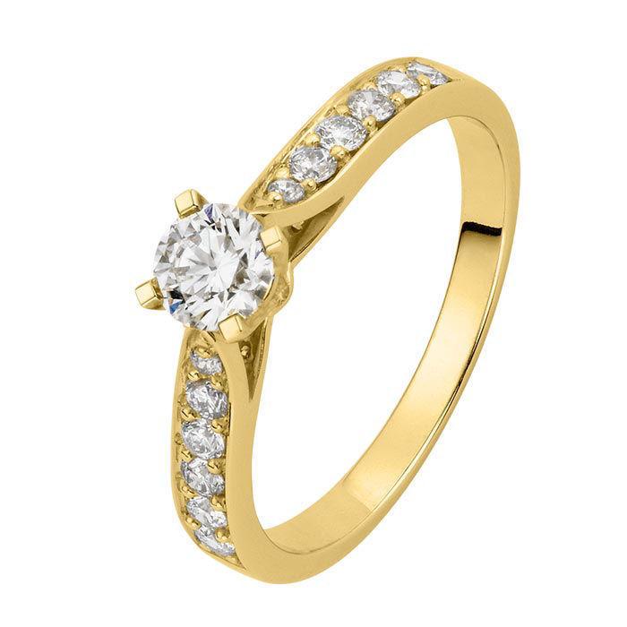 Diamantring forlovelsesring Orest 0,28 ct W-Si- 4S041