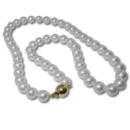 Perlekjede med Akoya perler, 45 cm