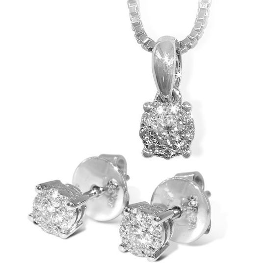 Bilde av Diamantsmykke i hvitt gull med 0,08 ct W-Si-coc083150