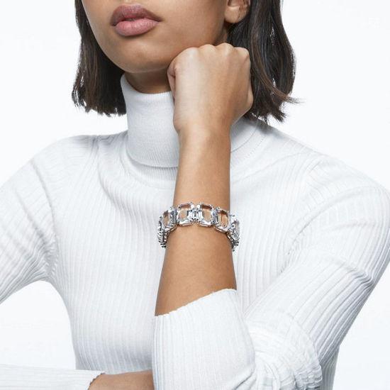 Swarovski armband Millenia bracelet Octagon cut crystals, hvit, Rhodium plated - 5599192