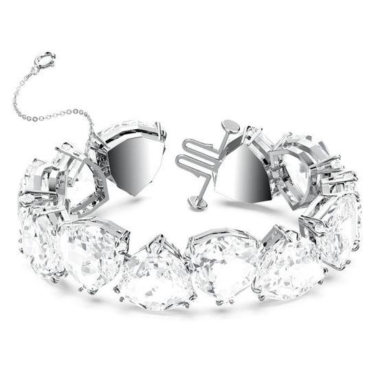 Swarovski årmband Millenia bracelet Triangle cut crystals, white, rhodium plated - 5599194
