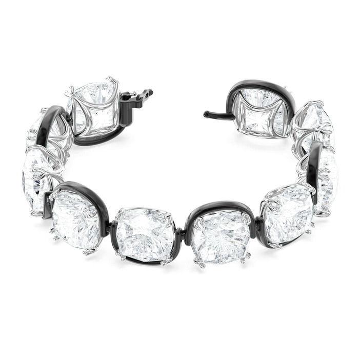 Swarovski årmband Harmonia bracelet Cushion cut crystals, white, mixed metal finish - 5600047