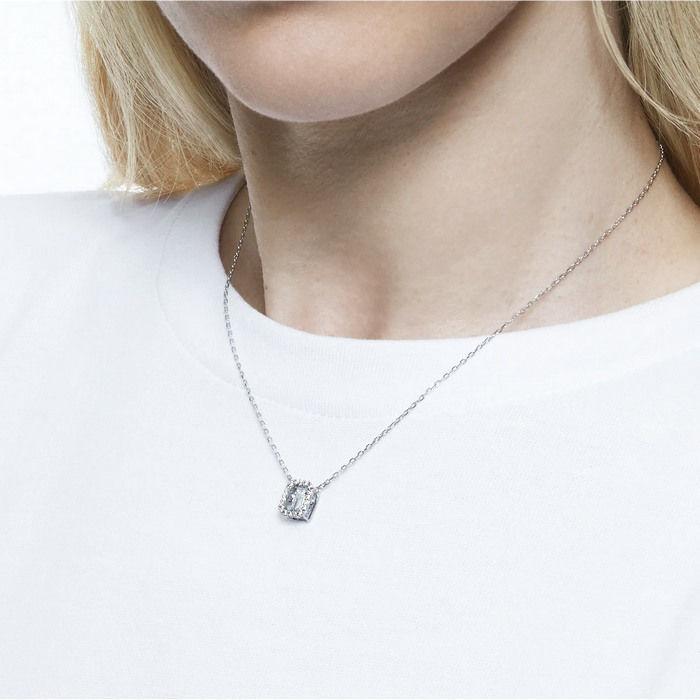 Swarovski smykke Millenia necklace Square Swarovski Zirconia, white, rhodium - 5599177