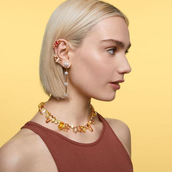 Swarovski smykke Gema necklace Multicolored, Gold-tone plated - 5610988