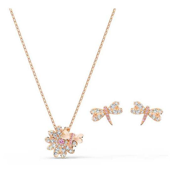 Swarovski smykkesett Eternal Flower Dragonfly - 5518141