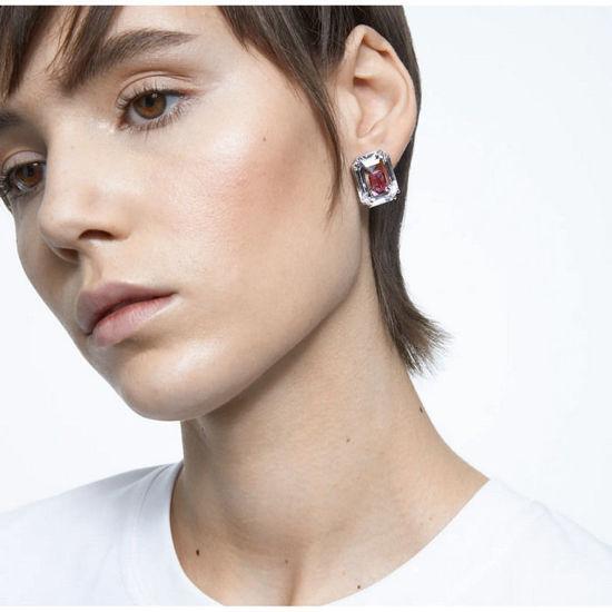 Swarovski øredobber Chroma earrings pink, rhodium plated - 5600627
