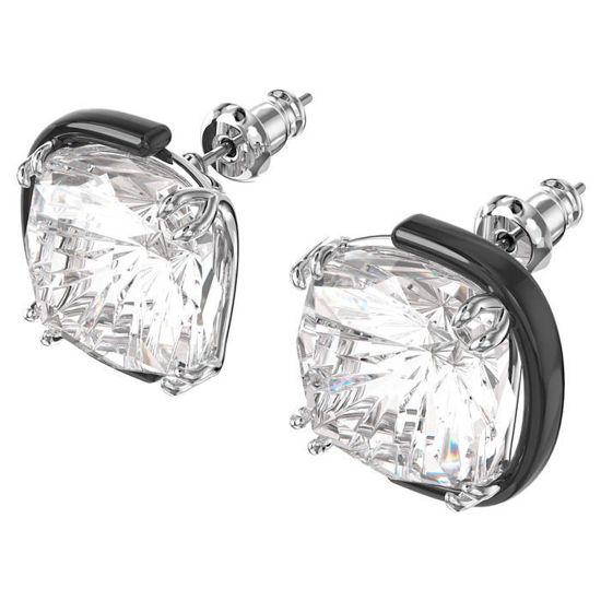 Swarovski øredobber Harmonia earrings Cushion cut crystals, white, mixed metal finish - 5600943