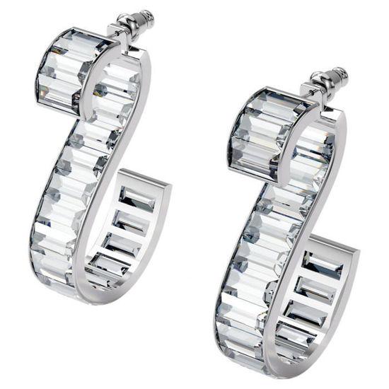Swarovski øredobber Matrix earrings White, Rhodium plated - 5600973