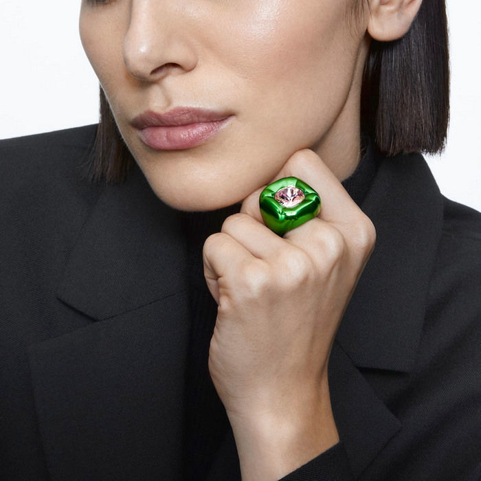 Swarovski Dulcis cocktail ring Green - 5601542