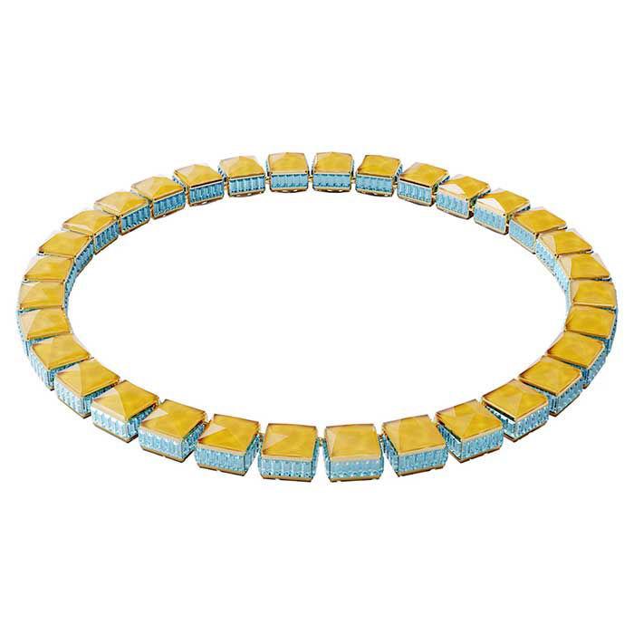 Swarovski collier Orbita, Square cut crystals, Multicolored - 5600515