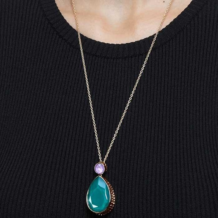 Swarovski smykke Orbita, Drop cut crystal, Multicolored - 5600517