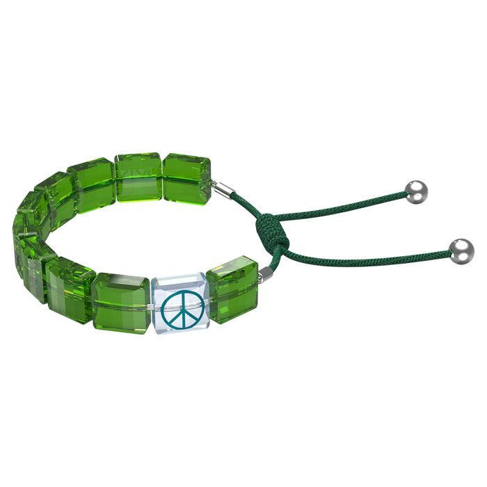 Swarovski årmband Letra bracelet Peace, Green, Rhodium plated - 5615003