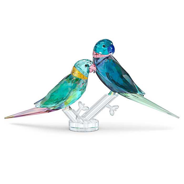 Swarovski figurer Jungle Beats Parakeet Couple Fife & Fifer - 5577124