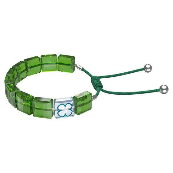 Swarovski årmband Letra bracelet Clover, Green, Rhodium plated - 5614970