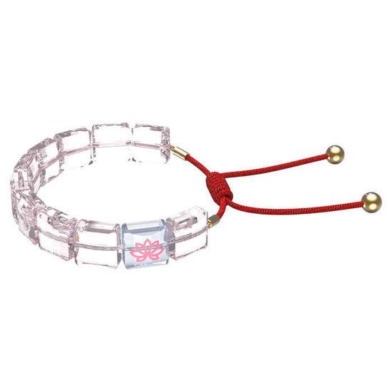 Swarovski årmband Letra bracelet Lotus, Pink, Gold-tone plated - 5614974