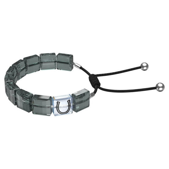 Swarovski årmband Letra bracelet Horse shoe, Gray, Rhodium plated - 5615000