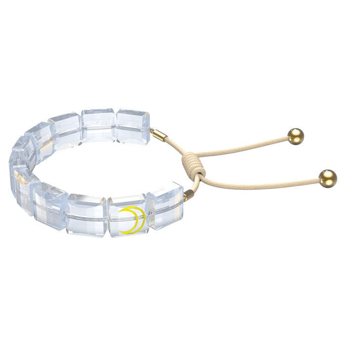 Swarovski årmband Letra bracelet Moon, White, Gold-tone plated - 5615863
